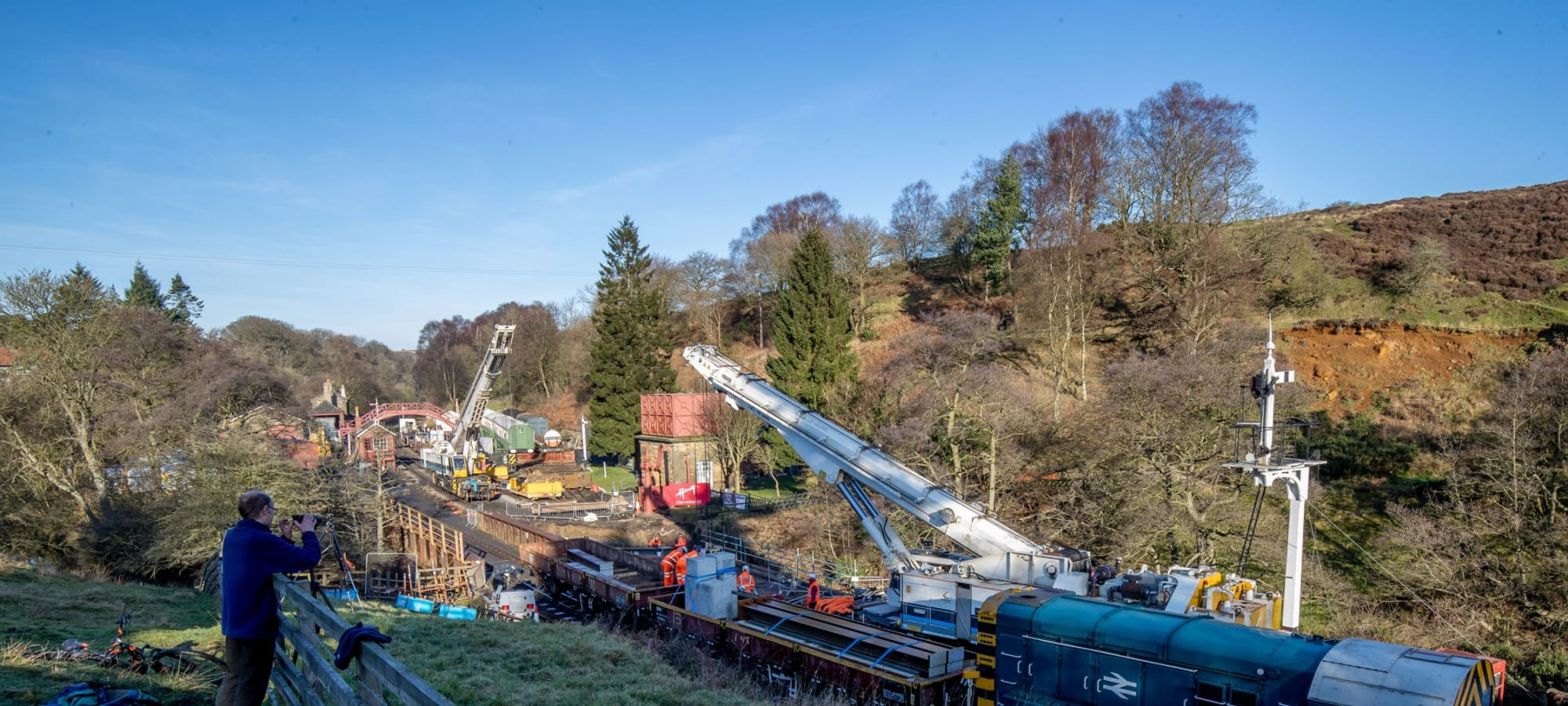 Goathland Station bridge is in final stages of installation